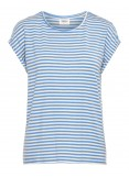 VMAVA PLAIN SS TOP STRIPE GA COLOR